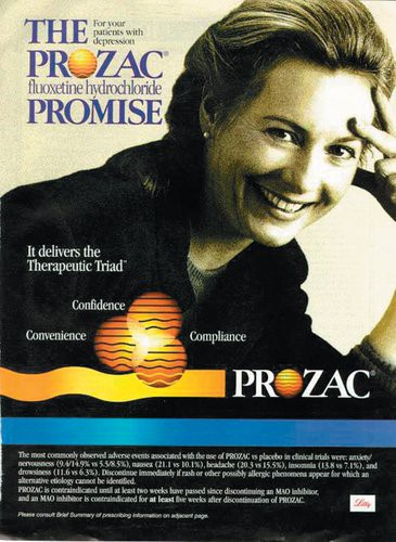 An advertisement for the psychiatric drug Prozac.
