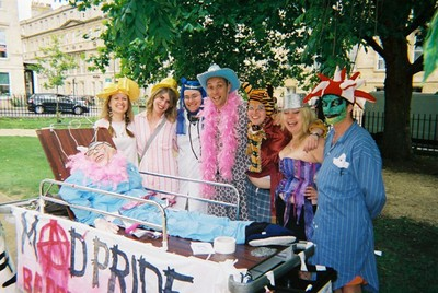 Photo of UK Bed Push Showing Mad Pride