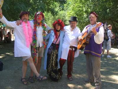 MF Mad Pride Clown Troupe at Oregon Country Fair