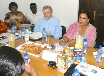 MFI visit to Ghana 2011 - David and Celia