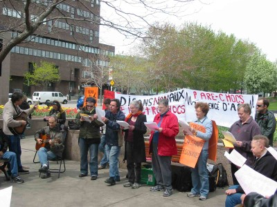 Protest in Quebec in May 2008 of electroshock