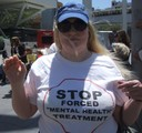 Laura from Texas protests American Psychiatric Association 2009 in style.