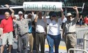 "MindFreedom activists from four states hold up ""Truth Hypo"""