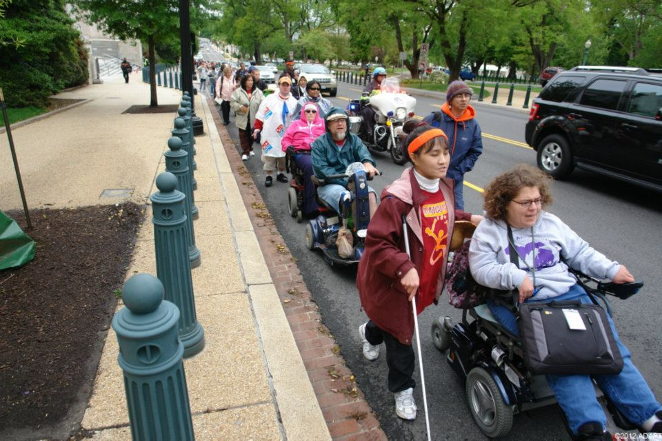 Roll With Us National Adapt Protest