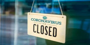 coronavirus closure sign