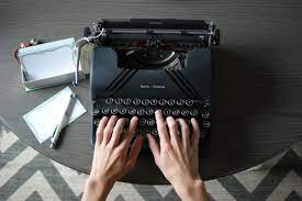 two hands typing